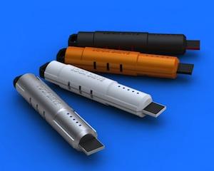 An image of ThingM's LockM USB drive